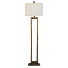 Contemporary Floor Lamp with Rectangular Cutout and Shade