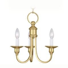 Livex Lighting Cranford Polished Brass Mini-Chandelier