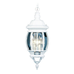 Livex Lighting Frontenac White Outdoor Hanging Light