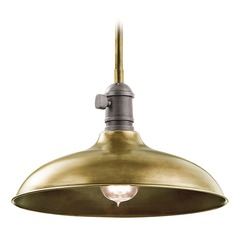 Kichler Lighting Cobson Pendant Light with Bowl / Dome Shade