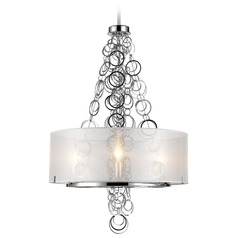 Golden Lighting Danica Chrome Mini-Chandelier