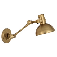 Industrial Sconce Brass Rico Espinet Scout by Robert Abbey