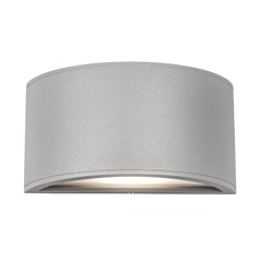 Modern Grey LED Outdoor Wall Light 3000K 406LM