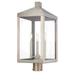 Livex Lighting Nyack Brushed Nickel Post Light