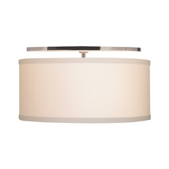 Modern Flushmount Lights in Satin Nickel Finish