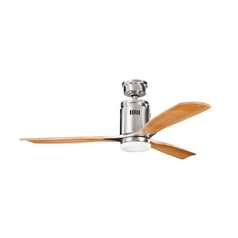 Kichler Modern Ceiling Fan with Light in Steel Finish