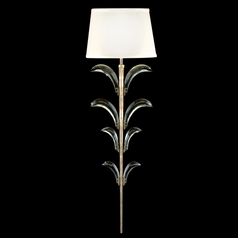 Fine Art Lamps Beveled Arcs Silver Leaf Sconce