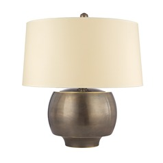 Hudson Valley Lighting Holden Distressed Bronze Table Lamp with Drum Shade