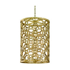 Modern Mini-Pendant Light with Silver Cage Shades