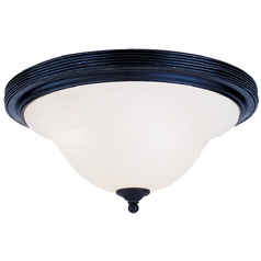 Elk Lighting Flushmount Light with White Glass in Matte Black Finish 220-BK