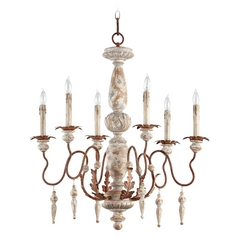 Quorum Lighting La Maison Manchester Grey W/ Rust Accents Chandelier