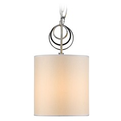 Golden Lighting Danica Chrome Mini-Pendant Light with Cylindrical Shade