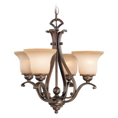 Monrovia Antique Brass Mini-Chandelier by Vaxcel Lighting