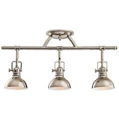 overhead bathroom lighting. kichler adjustable rail light for ceiling or wall mount overhead bathroom lighting