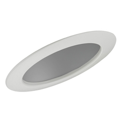 Clear Sloped Reflector Trim for 6-Inch Recessed Cans