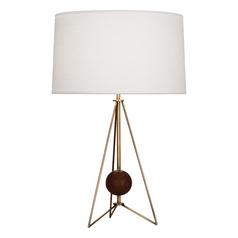 Mid-Century Modern Table Lamp Brass Jonathan Adler Ojai by Robert Abbey