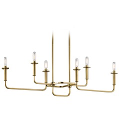 Mid-Century Modern Island Light Brass Alden by Kichler Lighting