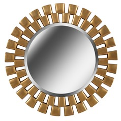 Art Deco Decorative Mirror Gold Gilbert by Kenroy Home Lighting