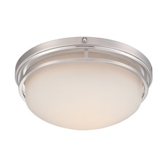 Designers Fountain Ramsey Satin Platinum LED Flushmount Light