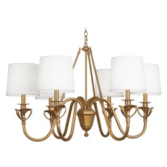 Robert Abbey Seine Aged Brass Chandelier