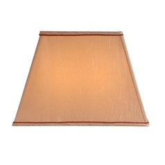 Large Rectangular Lamp Shade with Burgundy Trim