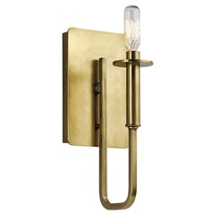 Mid-Century Modern Sconce Brass Alden by Kichler Lighting