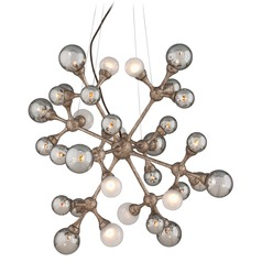 Mid-Century Modern Pendant Light Bronze Element by Corbett Lighting