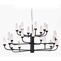 Candela LED Bronze LED Chandelier
