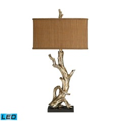 Dimond Lighting Silver Leaf LED Table Lamp with Rectangle Shade