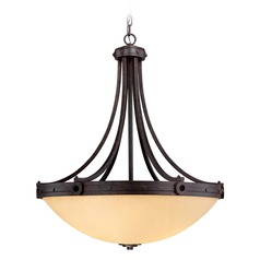 Savoy House Oiled Copper Pendant Light with Bowl / Dome Shade