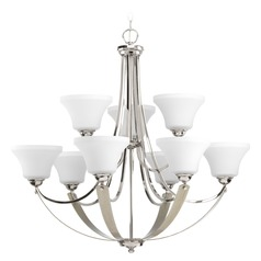 Progress Lighting Noma Polished Nickel with Silver Ridge Accents Chandelier
