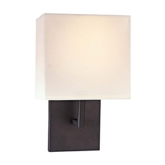 Bronze Single Square Switched Sconce