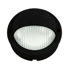 Progress LED Recessed Deck Light with Clear Glass in Black Finish