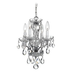 Crystorama Traditional 4-Light Crystal Chandelier in Chrome