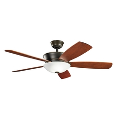 Kichler Lighting Skye Oiled Bronze Ceiling Fan with Light