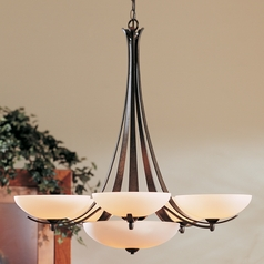 Hubbardton Forge Lighting Aegis Dark Smoke Chandelier
