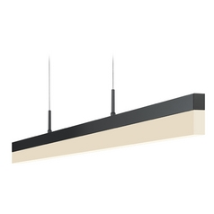 Sonneman Lighting Stiletto Satin Black LED Pendant Light with Rectangle Shade