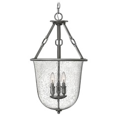 Hinkley Lighting Dakota Polished Antique Nickel Pendant Light with Urn Shade