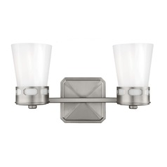 Feiss Lighting Cupertino Satin Nickel Bathroom Light