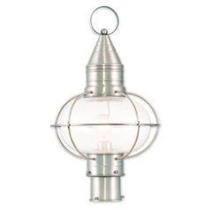 Livex Lighting Newburyport Brushed Nickel Post Light