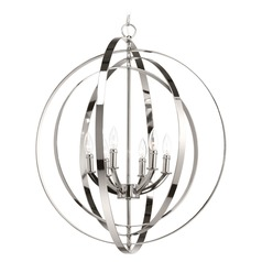 Equinox Polished Nickel Pendant Light by Progress Lighting
