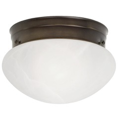 Design Classics Lighting 6-Inch Flushmount Mushroom Ceiling Light 29618