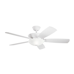 Kichler Lighting Skye White Ceiling Fan with Light