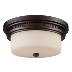 Elk Lighting Oiled Bronze Flushmount Light