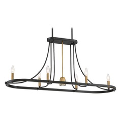 Transitional Island Chandelier Dark Cherry Ballard by Quoizel Lighting