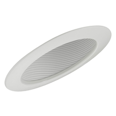 6-Inch White Recessed Sloped Ceiling Baffle Trim