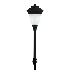 Progress LED Path Light with White Glass in Black Finish
