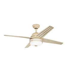 Kichler Lighting Porters Lake Aged White Ceiling Fan with Light