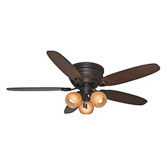 Casablanca Fan Caledonia Brushed Cocoa Ceiling Fan with Light