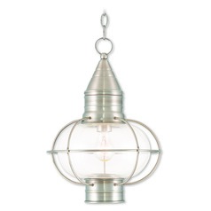 Livex Lighting Newburyport Brushed Nickel Outdoor Hanging Light